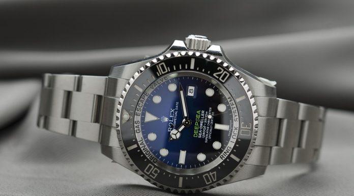 Silverfärgat Rolex armbandsur med högkvalitativt & rostfritt band